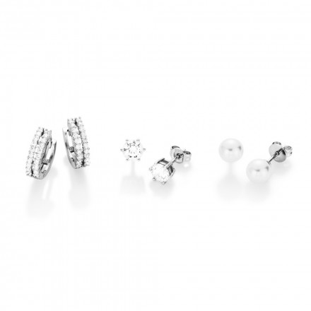 SilverArt Collection Ohrring Set 3tlg. 107205 Sterlingsilber weiss silber