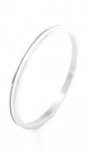 Grey Armreif 100549 Edelstahl silber weiss