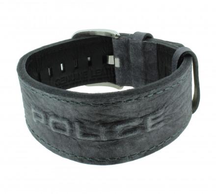 POLICE Herren Armband PJ24291BLGR-03 Leder grau