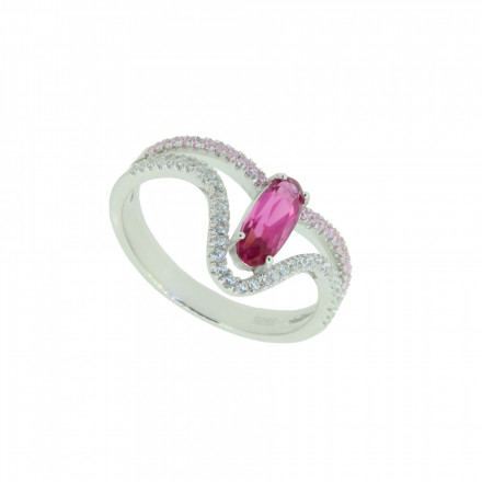 LOVELY SILVER Ring 107631 Silber 925 Zirkonia micro setting silber pink