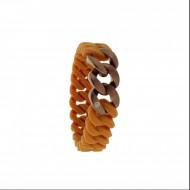 HANSE-KLUNKER MINI Damen Armband 107718 Edelstahl hellbraun bronze matt