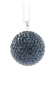 Crystal Line Anhänger TPAH110SW Kugel groß Silber blau