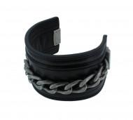 POLICE Herren Armband PJ22277BLB-01 Leder schwarz