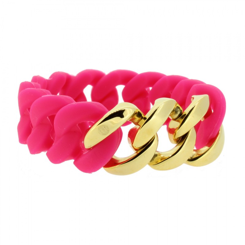 HANSE-KLUNKER ORIGINAL Damen Armband 106965 Edelstahl pink gold
