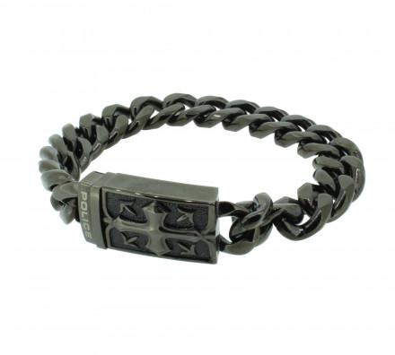 POLICE Herren Armband PJ24918BSU-02-L Edelstahl schwarz