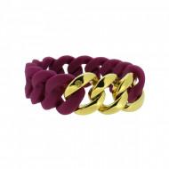 HANSE-KLUNKER ORIGINAL Damen Armband 107776 Edelstahl aubergine gold