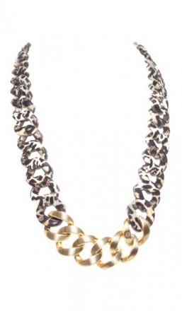 HANSE-KLUNKER Damen Kette 107106 Edelstahl leopard gold matt