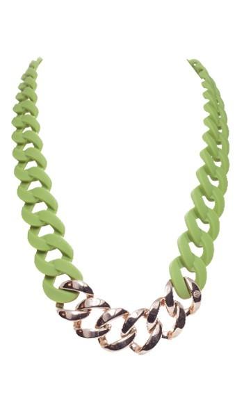 HANSE-KLUNKER Damen Kette 107090 Edelstahl oliv rosegold