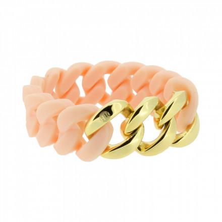 HANSE-KLUNKER ORIGINAL Damen Armband 107033 Edelstahl rosenude gold