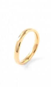 Grey Ring 100569 Edelstahl gold