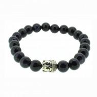 Silverart Buddha Armband 107865 FAB015 Sandstein dunkelblau glitzernd Metal nickelfrei versilbert