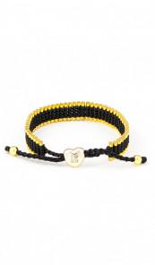 I Love Hamburg Armband 106415 Herz schwarz gold