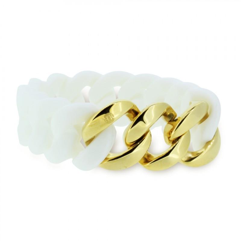 HANSE-KLUNKER ORIGINAL Damen Armband 106893 Edelstahl weiss gold