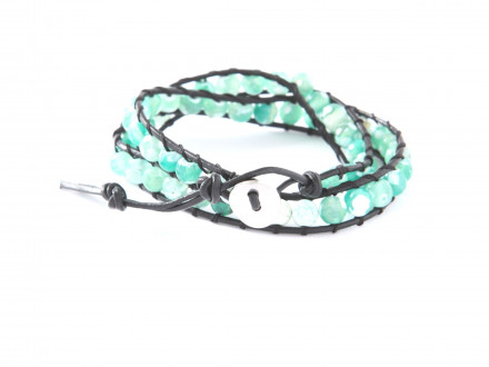 MARC SWAN Wickelarmband 100157 Leder grün