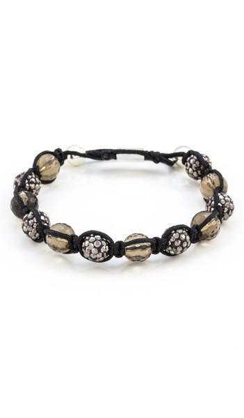 MARC SWAN Armband Shamballa Style 106475 schwarz braun