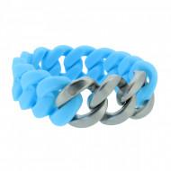 HANSE-KLUNKER ORIGINAL Damen Armband 107414 Edelstahl hellblau silber matt