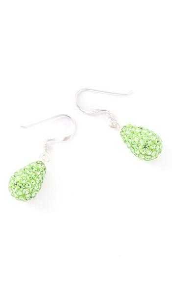 Crystal Line Ohrhänger TPOR109SW Tropfen Silber grün