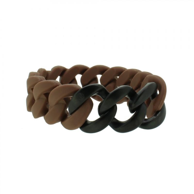 HANSE-KLUNKER ORIGINAL Damen Armband 107785 Edelstahl braun schwarz matt