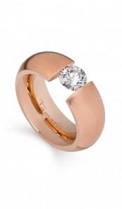 Tamaris Ring Scarlet 100398 Edelstahl Zirkonia roségold