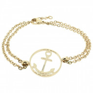 HAFEN-KLUNKER Glamour Collection Anker Armband 108033 Edelstahl rund rosegold
