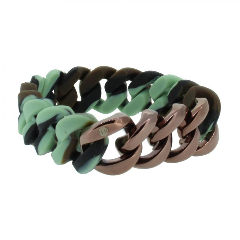 HANSE-KLUNKER ORIGINAL Herren Armband 106977 Edelstahl camouflage bronze