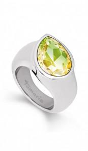Tamaris Ring Amy 100486 Edelstahl Swarovski silber grün