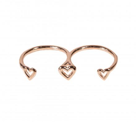 SilverArt Collection Ring Herz SR002-RG Silber rhodiniert rosegold