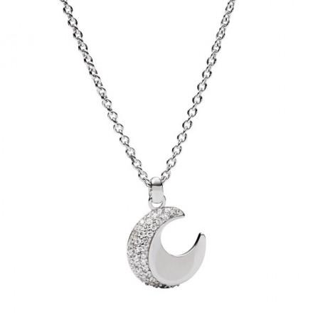 FOSSIL Kette NK MOON JFS00363040 925er Sterling Silber silber