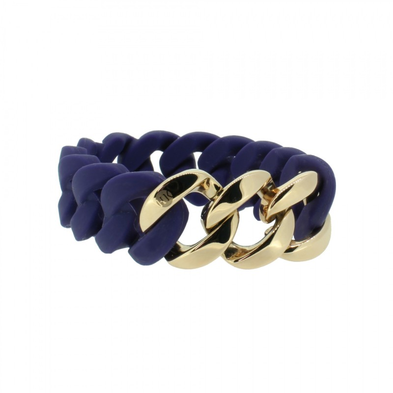HANSE-KLUNKER ORIGINAL Damen Armband 107768 Edelstahl nachtblau rosegold