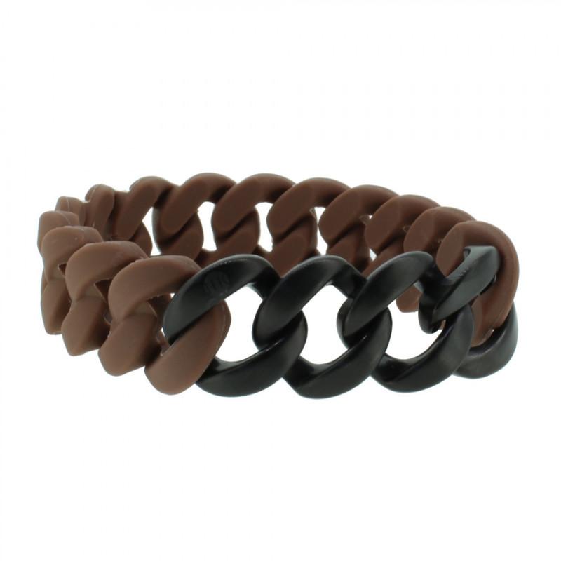 HANSE-KLUNKER ORIGINAL Herren Armband 107420 Edelstahl braun schwarz matt