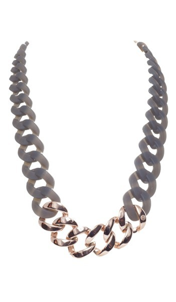 HANSE-KLUNKER Damen Kette 107084 Edelstahl grau rosegold