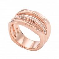 FOSSIL Ring CLASSICS JF01321791-8 Edelstahl roségold