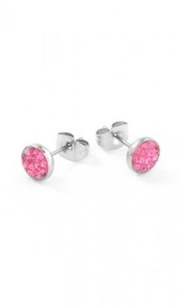 Grey Ohrstecker 100555 Edelstahl Kristall pink