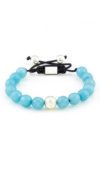 MARC SWAN Armband Shamballa Style 106484 blau silber