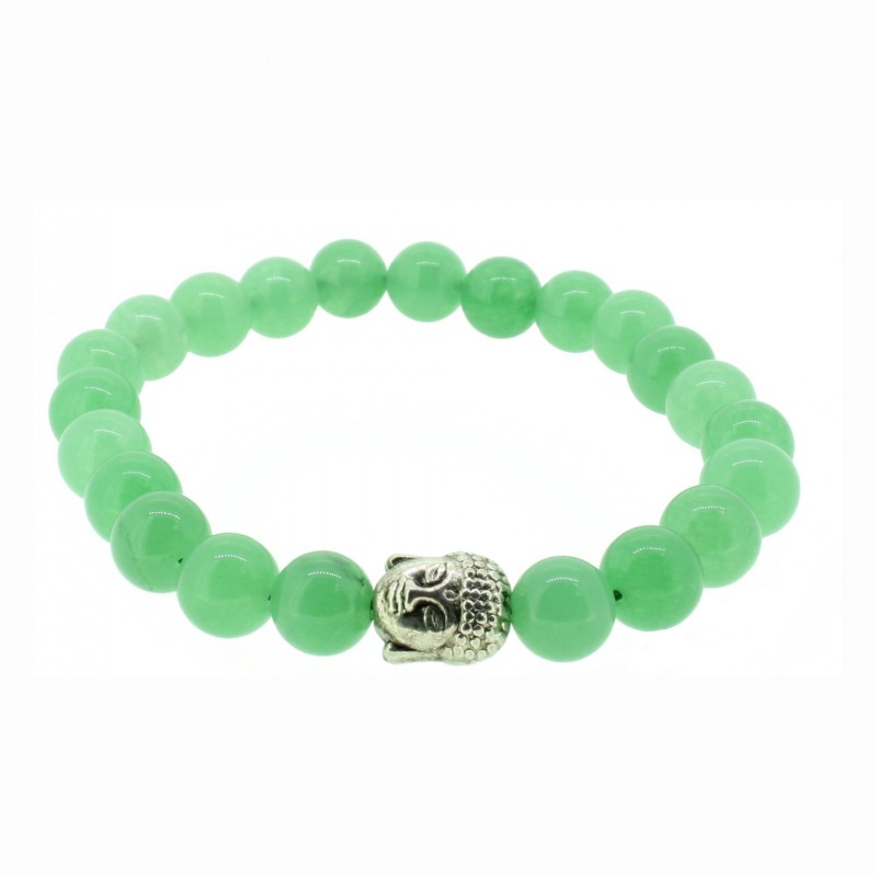 Silverart Buddha Armband 107863 FAB017 Jade grün Metal nickelfrei versilbert