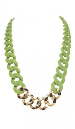 HANSE-KLUNKER Damen Kette 107089 Edelstahl oliv gold