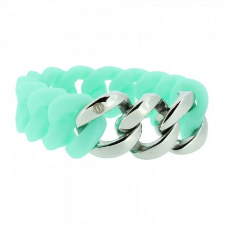 HANSE-KLUNKER ORIGINAL Damen Armband 106802 Edelstahl türkis silber