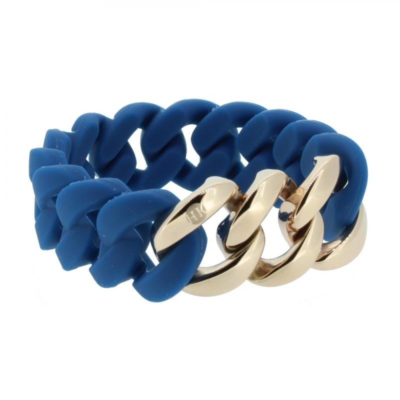 HANSE-KLUNKER ORIGINAL Damen Armband 107025 Edelstahl petrol rosegold