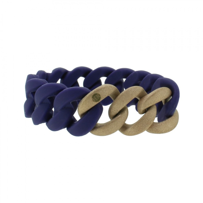 HANSE-KLUNKER ORIGINAL Damen Armband 107770 Edelstahl nachtblau rosegold sandgestrahlt