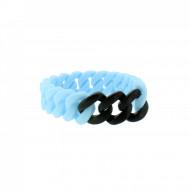 HANSE-KLUNKER MINI Damen Armband 107969 Edelstahl hellblau schwarz matt