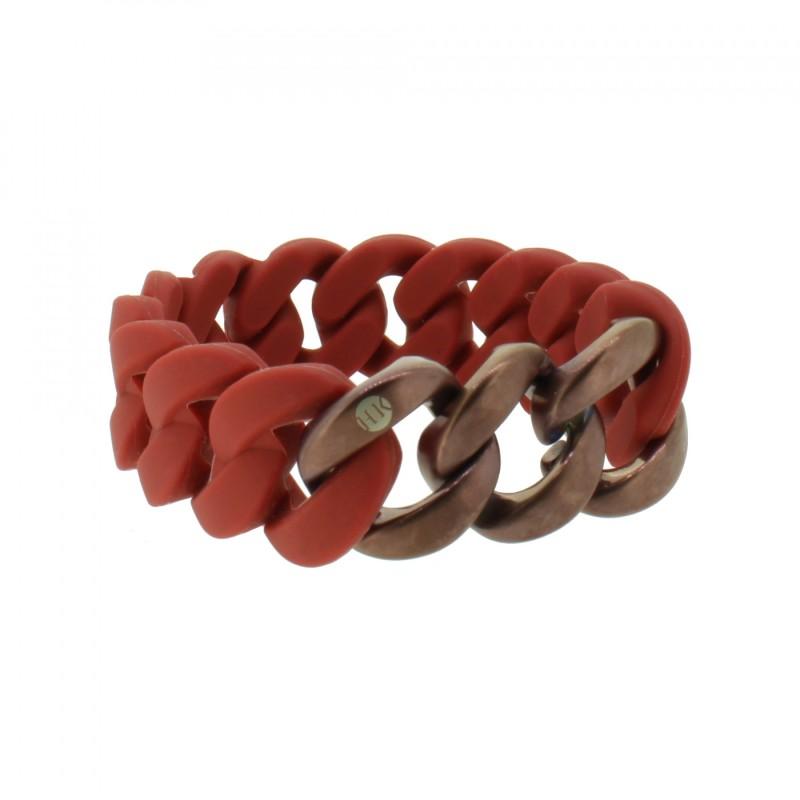 HANSE-KLUNKER ORIGINAL Damen Armband 107928 Edelstahl Marsala rot bronze matt