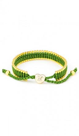 I Love Berlin Armband 106427 Herz grün gold