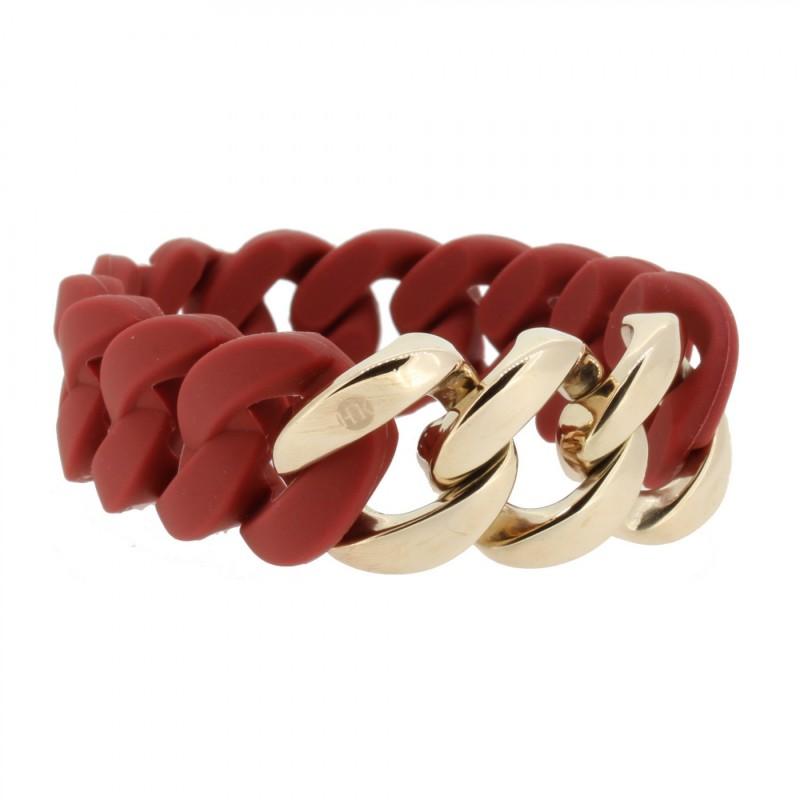 HANSE-KLUNKER ORIGINAL Damen Armband 106786 Edelstahl Marsala rot rosegold