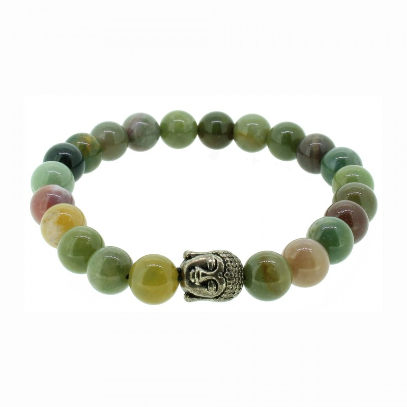 Silverart Buddha Armband 107861 FAB019 Jade grün Metal nickelfrei versilbert