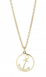 HAFEN-KLUNKER Glamour Collection Halskette Anker 108048 Edelstahl Anker rund rosegold