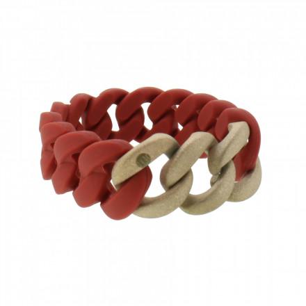 HANSE-KLUNKER ORIGINAL Damen Armband 107930 Edelstahl rot rosegold sangestrahlt