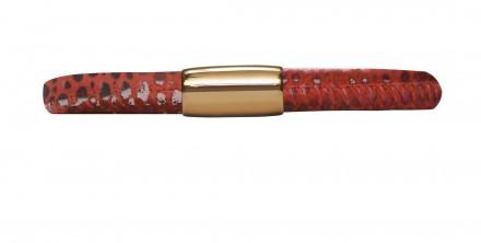 Endless JLo Armband Rot Reptil 1052-19 Leder rot