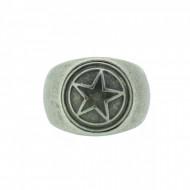 THO Herren Ring Stern 107825 THO-R001 Edelstahl silber