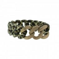 HANSE-KLUNKER ORIGINAL Damen Armband 107796 Edelstahl leopard rosegold sandgestrahlt