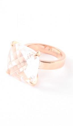 Hanse-Klunker Ring 100456 Edelstahl rosegold weiss